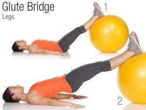 Stability ball glute bridge